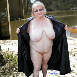 Out And About - Nude Amateurs, Big Tits, Mature, Outdoors, Granny