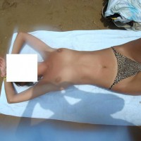 Topless Girlfriend At The Beach
