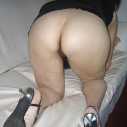 A neighbor's ass - Nancy No Panties