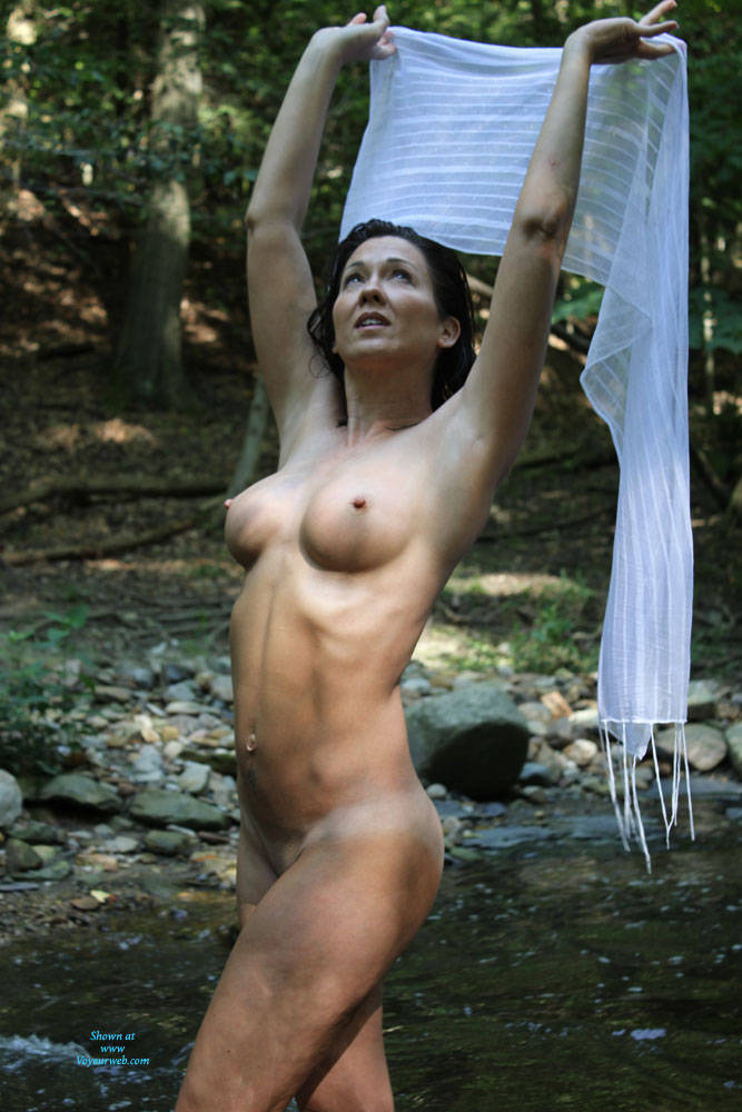 Pic #6 My Old Broad - Nude Wives, Big Tits, Brunette, Outdoors, Shaved, Nature, Amateur, Mature