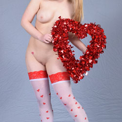 Blonde With Valentine's Day Present - Big Tits, Blonde Hair, Heels, Perfect Tits, Shaved Pussy, Showing Tits, Stockings, Hot Girl, Sexy Body, Sexy Boobs, Sexy Face, Sexy Figure, Sexy Girl, Sexy Legs, Sexy Wife, Sexy Woman , Blonde Wife, Stockings, Big Tits, Shaved Pussy, Heels