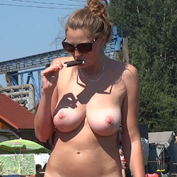 Naked Blonde Under The Sun - Big Tits, Blonde Hair, Exposed In Public, Hanging Tits, Huge Tits, Naked Outdoors, Sunglasses, Hairless Pussy, Hot Girl, Naked Girl, Sexy Body, Sexy Boobs, Sexy Face, Sexy Figure, Sexy Girl, Sexy Woman