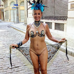 Luna 70 Years In The Carnival Of Rio 2018 II - Public Exhibitionist, Flashing, Outdoors, Public Place, Shaved