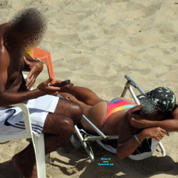 Wife And Husband In Janga Beach - Outdoors, Bikini Voyeur, Beach Voyeur