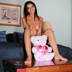 Sierra And Her Valentine Bear - Brunette, Lingerie, Amateur