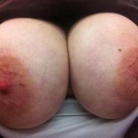 Very large tits of my girlfriend - big36dd