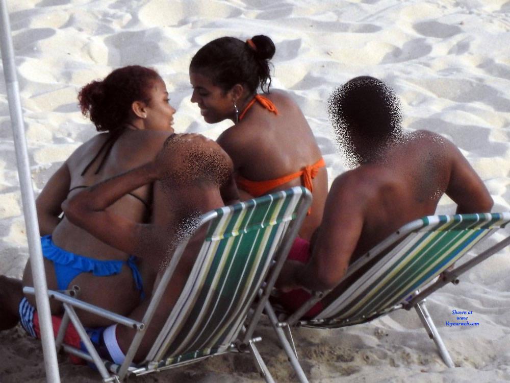 Pic #4 Couples In Janga Beach - Beach, Brunette, Outdoors, Bikini Voyeur, Beach Voyeur