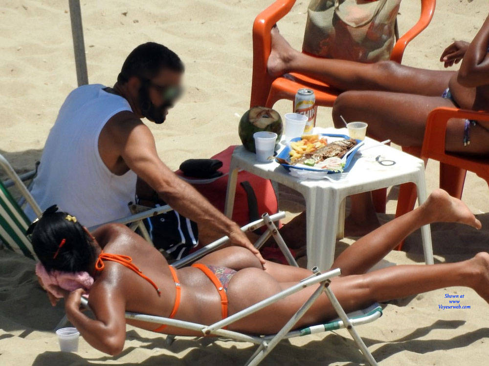 Pic #3 Delicious Asses From Recife City, Brazil - Beach, Brunette, Outdoors, Bikini Voyeur, Beach Voyeur