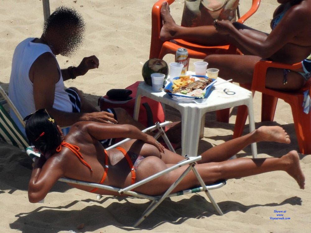 Pic #4 Delicious Asses From Recife City, Brazil - Beach, Brunette, Outdoors, Bikini Voyeur, Beach Voyeur