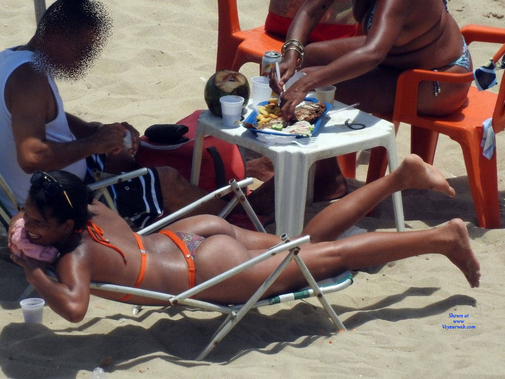 Pic #6 Delicious Asses From Recife City, Brazil - Beach, Brunette, Outdoors, Bikini Voyeur, Beach Voyeur