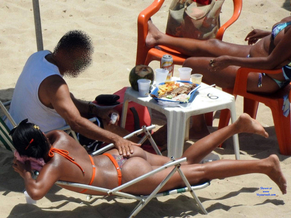 Pic #1 Delicious Asses From Recife City, Brazil - Beach, Brunette, Outdoors, Bikini Voyeur, Beach Voyeur