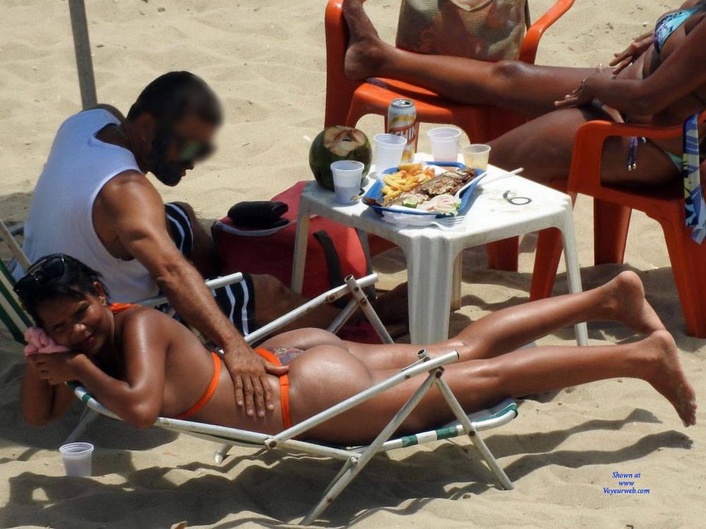 Pic #8 Delicious Asses From Recife City, Brazil - Beach, Brunette, Outdoors, Bikini Voyeur, Beach Voyeur