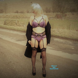 Yorkshire Countryside PT 2 - Blonde, High Heels Amateurs, Lingerie, Outdoors