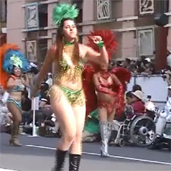 Samba - Brunette, Outdoors, Public Place, Costume