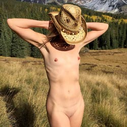 Naked In Mountain Meadow - Brunette Hair, Exposed In Public, Naked Outdoors, Nipples, Nude In Public, Nude Outdoors, Small Breasts, Small Tits, Hot Girl, Naked Girl, Sexy Body, Sexy Face, Sexy Figure, Sexy Girl, Sexy Legs, Sexy Woman, Amateur