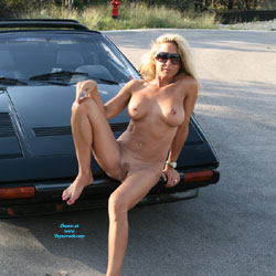 Jessie's Ferrari From A While Back - Nude Girls, Big Tits, Blonde, Outdoors, Amateur