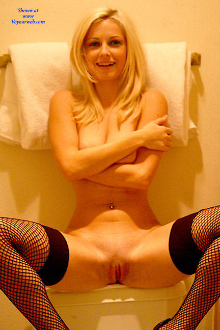 Pic #8 Starting With Her Stockings - Nude Girls, Big Tits, Blonde, Lingerie, Shaved, Stockings Pics
