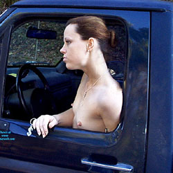 Trace Truck Ride - Nude Girls, Brunette, Outdoors