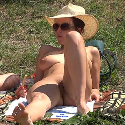 Straw Hat - Nude Girls, Big Tits, Outdoors, Shaved