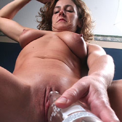 Filling The Bottle - Shaved, Close-Ups, Pussy