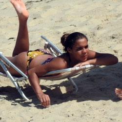 Ass From Janga Beach - Beach, Outdoors, Bikini Voyeur, Beach Voyeur, Brunette