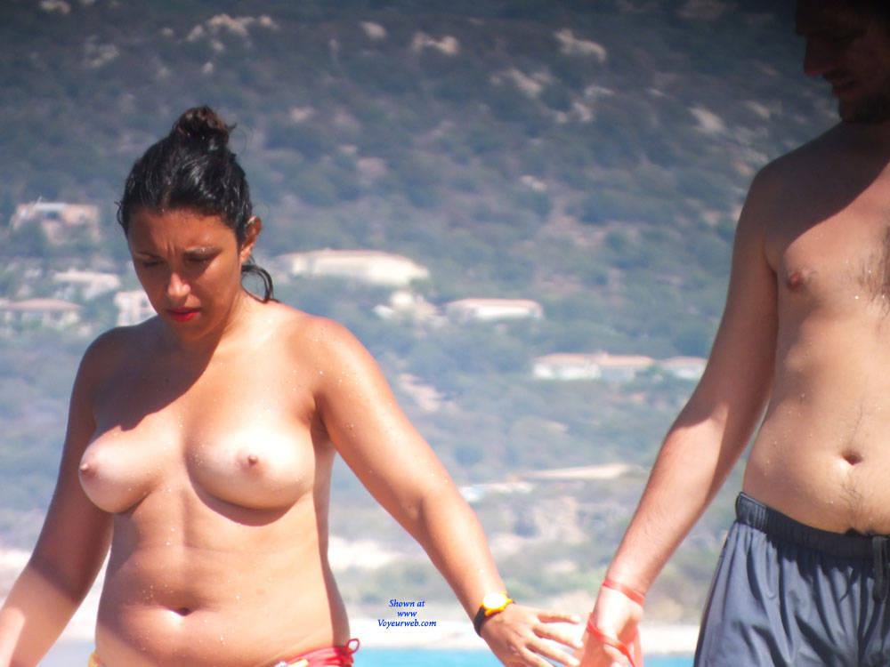 Pic #3 Topless - Topless Girls, Beach, Big Tits, Brunette, Outdoors, Beach Voyeur