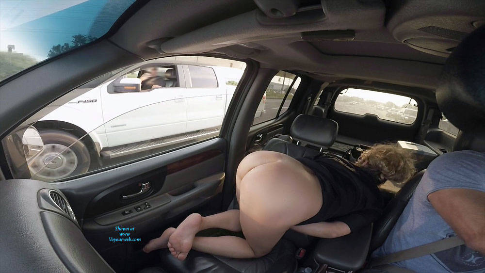 Pic #2 Flashing Is Fun On The Highway - Pantieless Wives, Public Exhibitionist, Flashing, Amateur