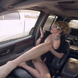 Flashing Is Fun On The Highway - Pantieless Wives, Public Exhibitionist, Flashing, Amateur