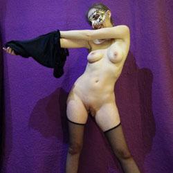 Taking Off The Mask - Nude Girls, Brunette, Lingerie, Shaved, Amateur