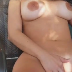 Playing On The Balcony - Nude Girls, Big Tits, Masturbation, Outdoors, Softcore