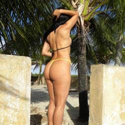 Selma Brasil In Beach House - Brunette, Outdoors, Amateur