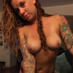 Pretty Tats - Big Tits, Brunette, Amateur, Tattoos