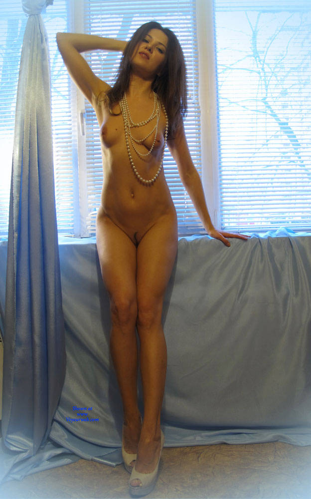 Pic #3 On The Window - Nude Girls, Brunette, High Heels Amateurs, Firm Ass