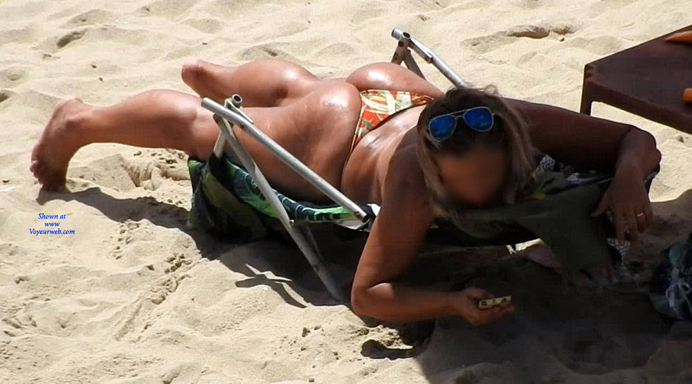 Pic #1 Big Ass From Pina Beach - Big Ass, Outdoors, Bikini Voyeur, Beach Voyeur