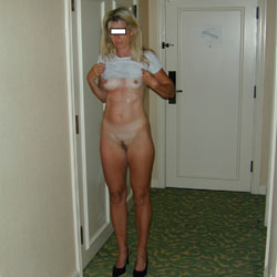 Showing It - Pantieless Wives, Blonde, Bush Or Hairy, Amateur