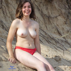Red Pantie At The Sand - Big Tits, Brunette Hair, Exposed In Public, Nude In Public, Nude Outdoors, Perfect Tits, Showing Tits, Topless Beach, Topless Girl, Topless, Hot Girl, Sexy Body, Sexy Boobs, Sexy Face, Sexy Feet, Sexy Figure, Sexy Girl, Sexy Legs, Sexy Panties, Amateur