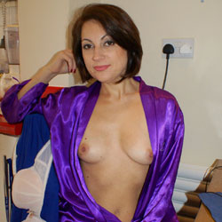 Anna (39) Blue Gown - Brunette, Amateur