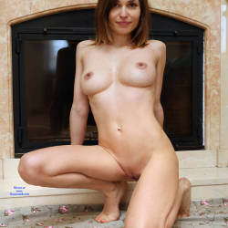 Pic #3 At Home - Nude Girls, Big Tits, Brunette, Shaved, Amateur, Firm Ass