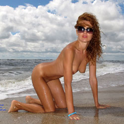 Wild And Wet Redhead - Exposed In Public, Nude Beach, Nude In Public, Red Hair, Small Breasts, Small Tits, Sunglasses, Beach Tits, Beach Voyeur, Hot Girl, Sexy Ass, Sexy Body, Sexy Face, Sexy Figure, Sexy Girl, Sexy Legs