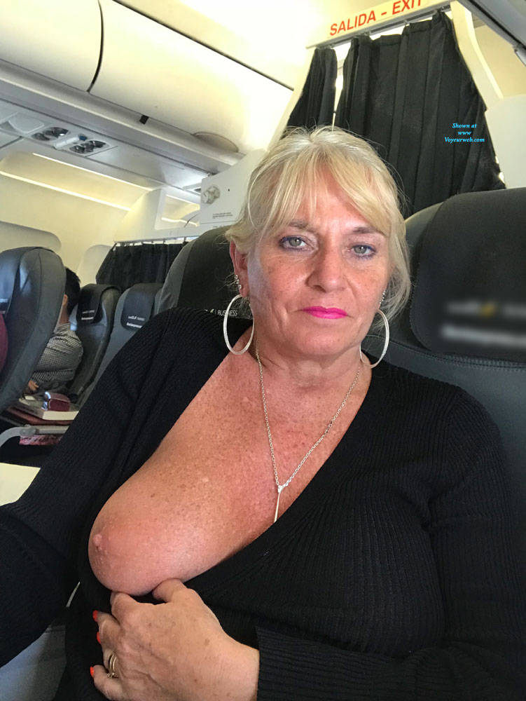 Pic #3 Flying High - Big Tits, Blonde, Public Exhibitionist, Flashing, Public Place, Amateur, Body Piercings