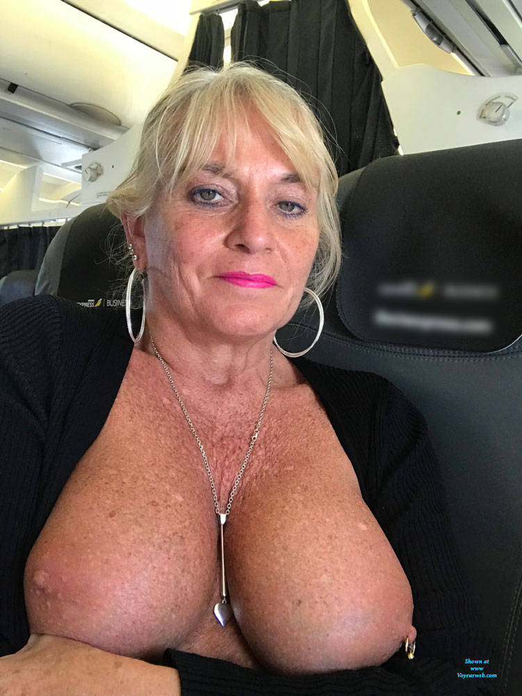 Pic #6 Flying High - Big Tits, Blonde, Public Exhibitionist, Flashing, Public Place, Amateur, Body Piercings