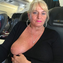 Flying High - Big Tits, Blonde, Public Exhibitionist, Flashing, Public Place, Amateur, Body Piercings