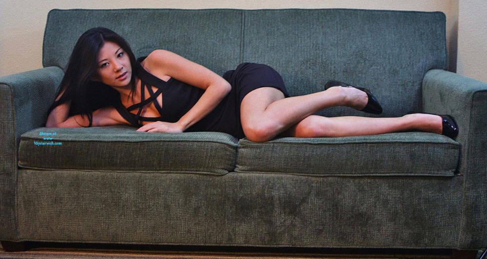 Pic #2 Annie On Couch - Big Tits, Brunette, Amateur