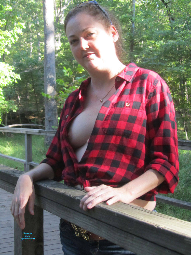 Pic #8 Spring At The Battle Fields - Big Tits, Brunette, Outdoors, Amateur
