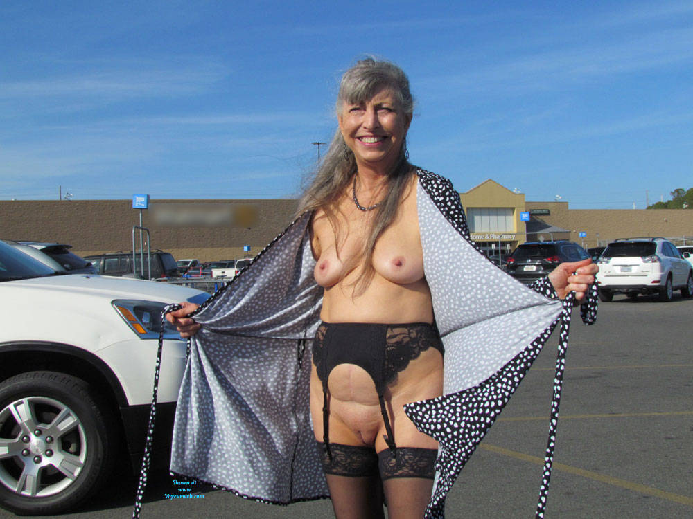 Pic #3 Out And About Town Flashing - Big Tits, Public Exhibitionist, Flashing, Wives In Lingerie, Outdoors, Public Place, Shaved, Amateur, Stockings Pics