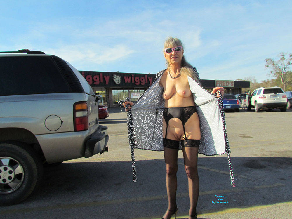 Pic #9 Out And About Town Flashing - Big Tits, Public Exhibitionist, Flashing, Wives In Lingerie, Outdoors, Public Place, Shaved, Amateur, Stockings Pics