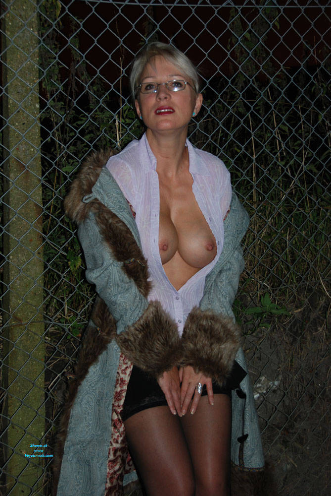 Pic #6 A Walk In The Dark Part 1 - Big Tits, Outdoors, Wife/wives