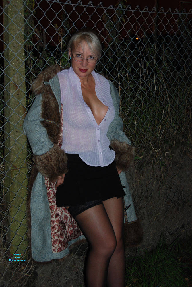 Pic #2 A Walk In The Dark Part 1 - Big Tits, Outdoors, Wife/wives