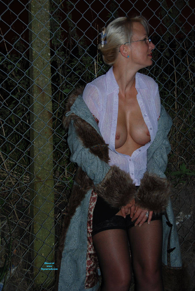 Pic #7 A Walk In The Dark Part 1 - Big Tits, Outdoors, Wife/wives