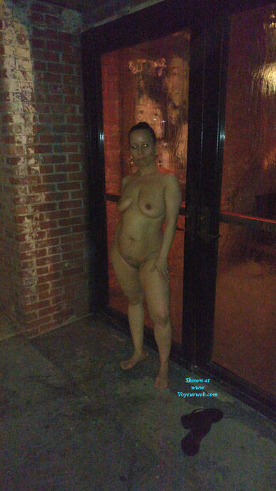 Pic #5 Naked In NYC - Nude Girls, Big Tits, Brunette, Public Exhibitionist, Flashing, Outdoors, Public Place, Amateur